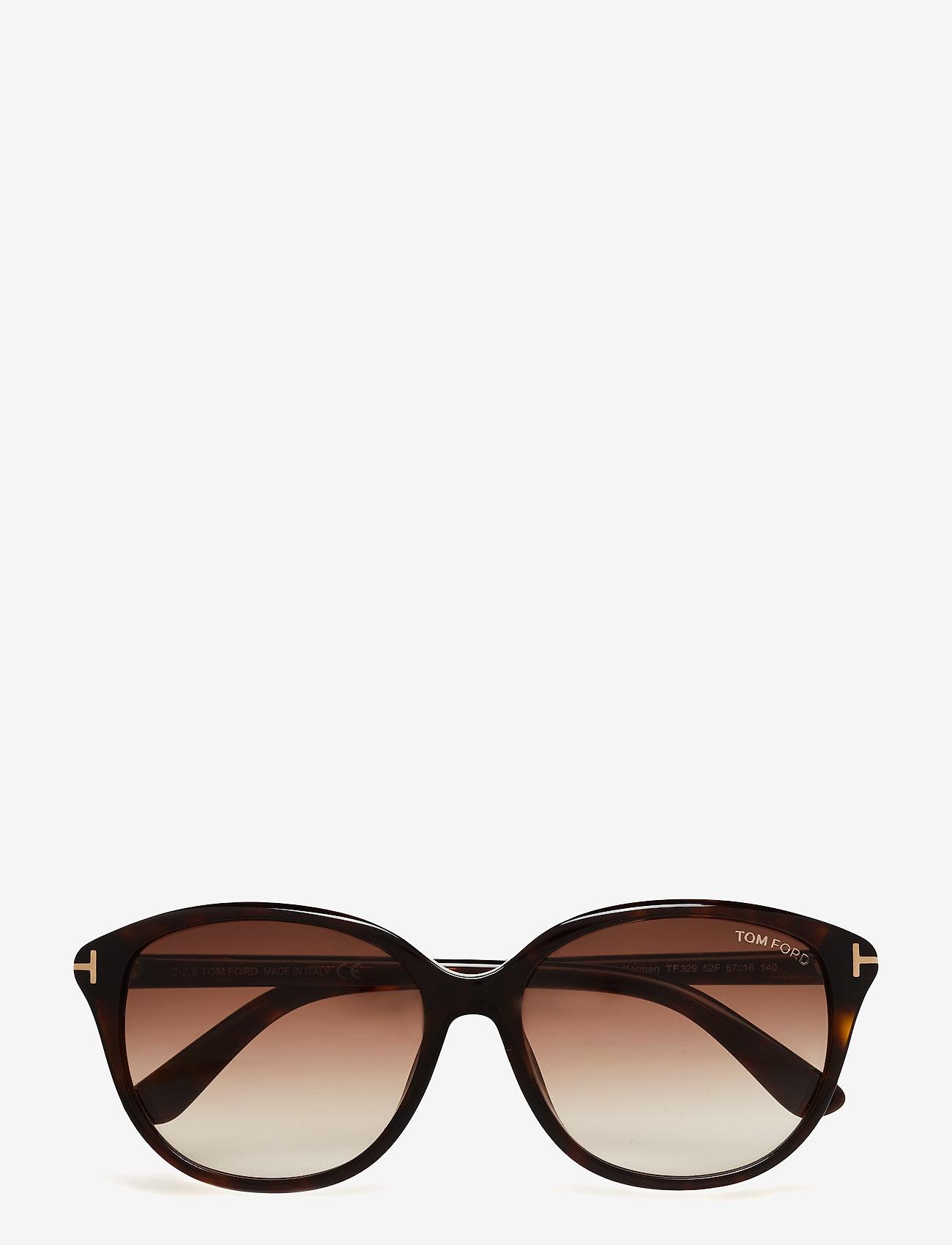 Tom Ford Sunglasses - Tom Ford KARMEN - d formas - 52f -dark havana / gradient brown - 0