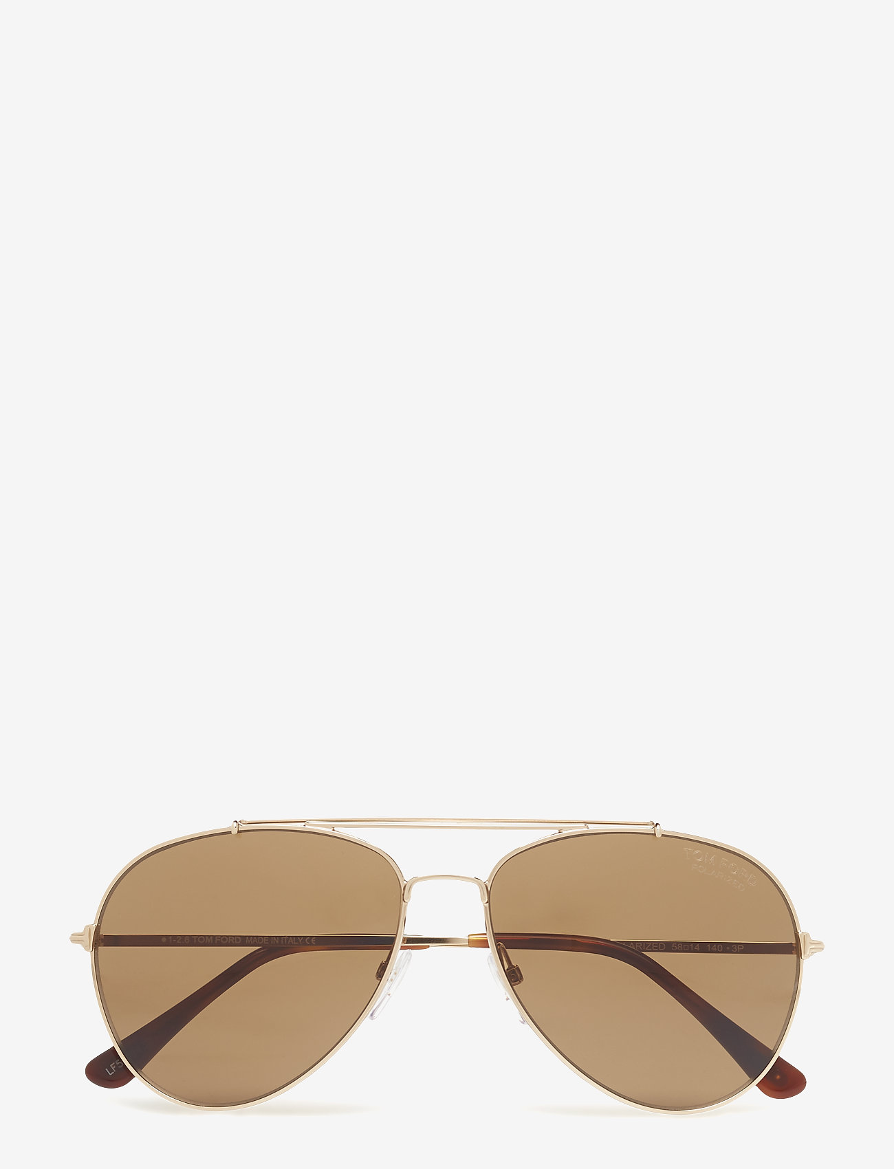 Tom Ford Sunglasses - Tom Ford Indiana - pilot - 28h shiny rose gold / brown polarized - 0