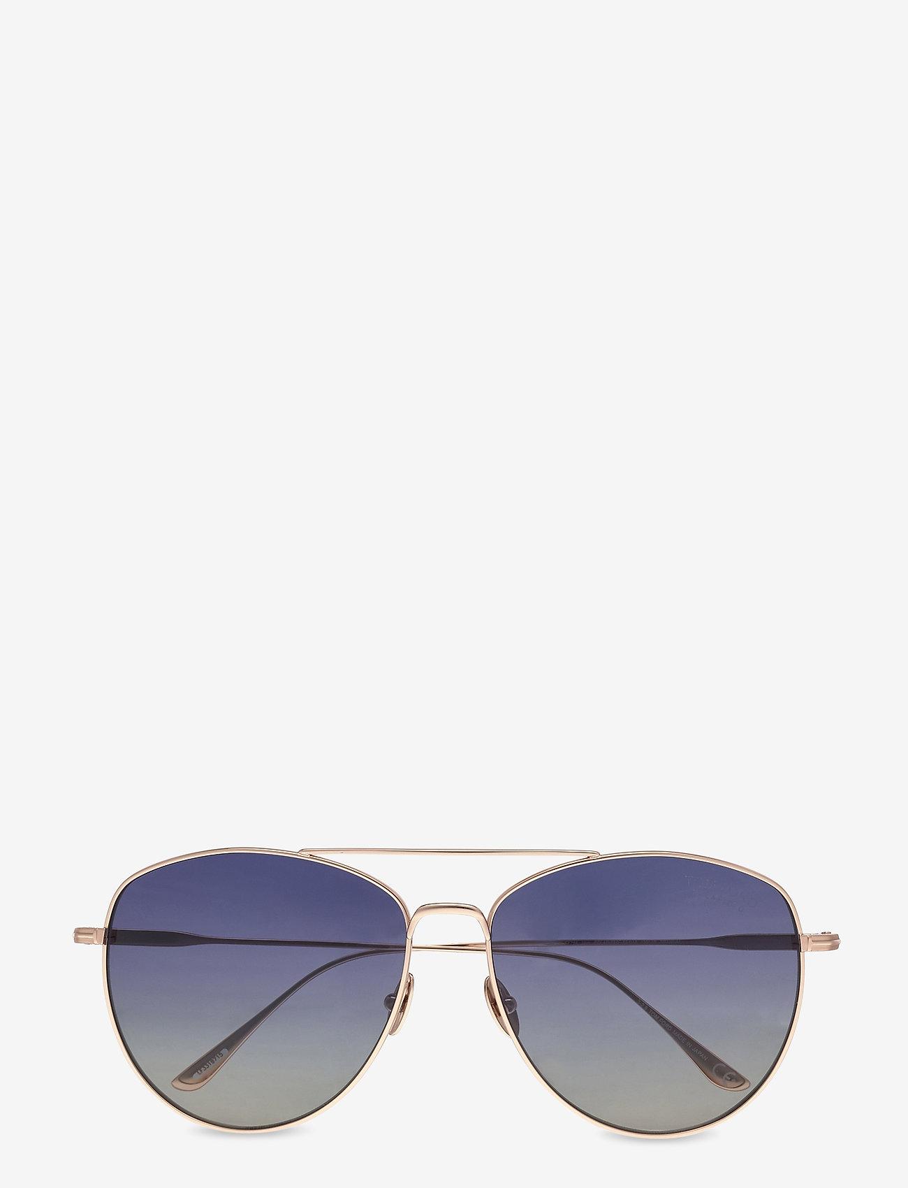 Tom Ford Sunglasses - Tom Ford MILLA - rond model - shiny rose gold - 0