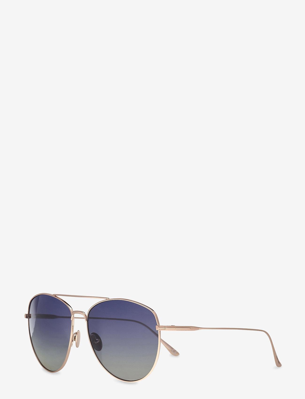 Tom Ford Sunglasses - Tom Ford MILLA - rond model - shiny rose gold - 1