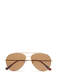 Tom Ford Indiana - 28H SHINY ROSE GOLD / BROWN POLARIZED