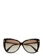 Tom Ford Reveka - 52G DARK HAVANA / BROWN MIRROR