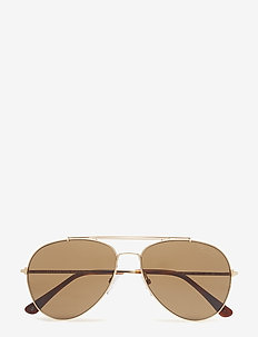 Tom Ford Indiana - pilot - 28h shiny rose gold / brown polarized