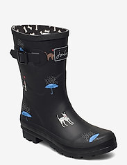 Joules - Molly Welly - kalosze - black cat dog - 0