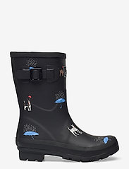 Joules - Molly Welly - kalosze - black cat dog - 1