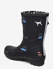 Joules - Molly Welly - kalosze - black cat dog - 2