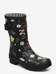 Molly Welly - rain boots - blkfloral