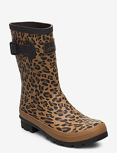 Molly Welly - rain boots - tanleopard