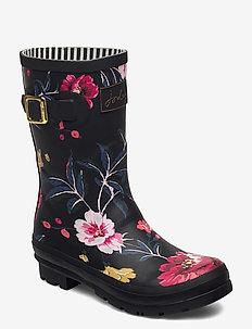 Molly Welly - regnstövlar - black floral