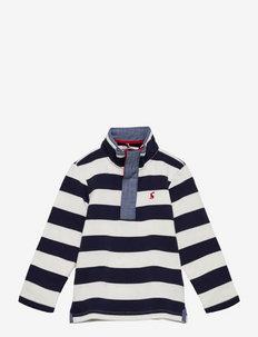 Captain - shirts - navy cream stripe
