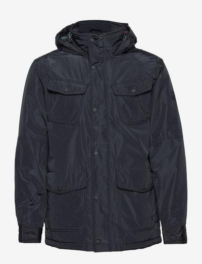 Waterproof Fieldcoat With Padded Inner - leichte jacken - marine navy