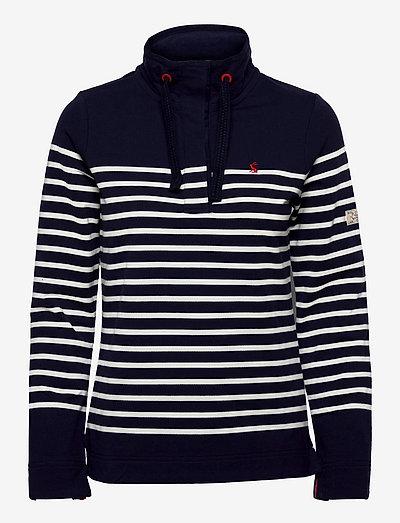 Saunton - sweatshirts - french navy cream stripe