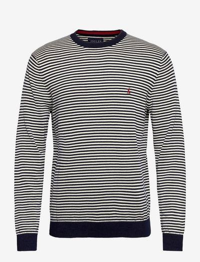 Jarvis Stripe - rundhals - french navy