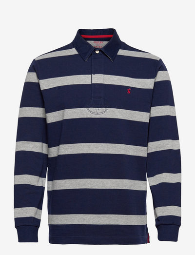 Rugby Shirt - langärmelig - grey navy stripe