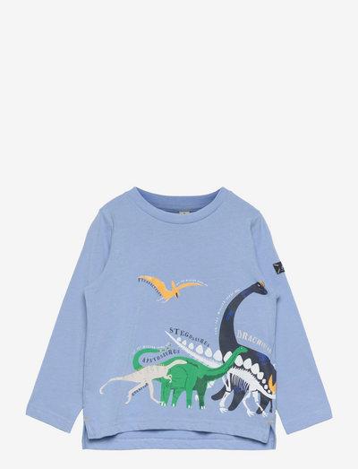 Finlay - long-sleeved t-shirts - blue dinos