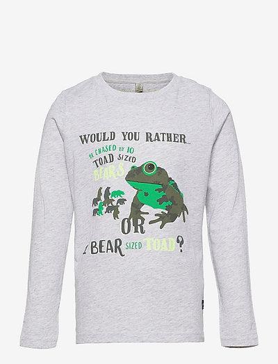 Finlay - long-sleeved t-shirts - grey bear toad