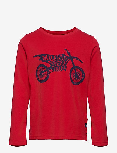 Finlay - long-sleeved t-shirts - red motorbike