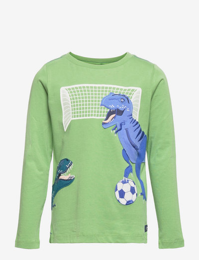 Zipadee - long-sleeved t-shirts - green football dinos