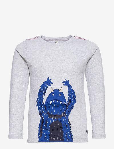 Zipadee - long-sleeved t-shirts - grey monster