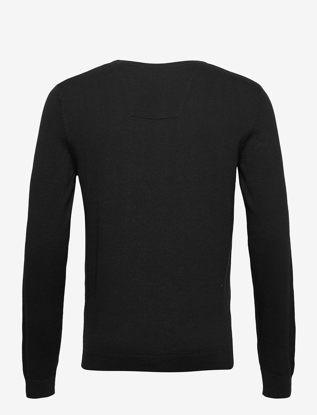Tom Tailor basic crew n - Strikkevarer BLACK - Menn Klær