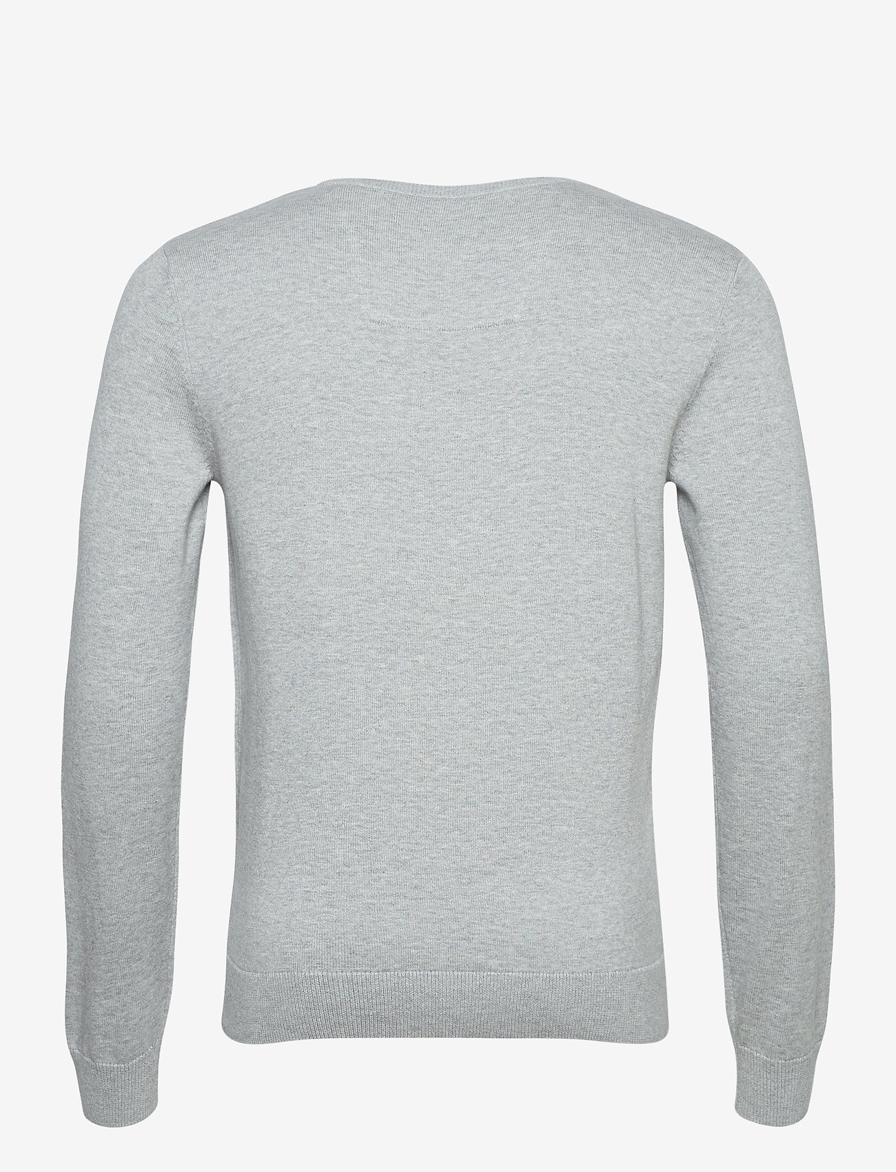 Tom Tailor basic crew n - Strikkevarer LIGHT SOFT GREY MELANGE - Menn Klær