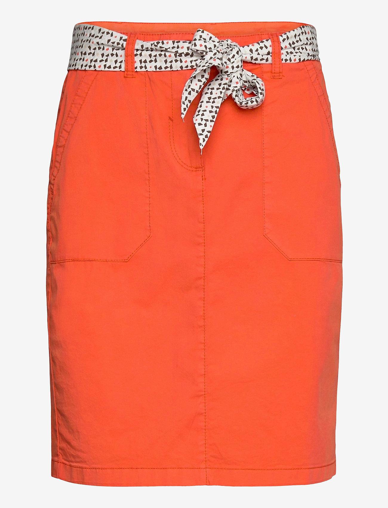 Tom Tailor - skirt solid - pennkjolar - strong flame orange - 0