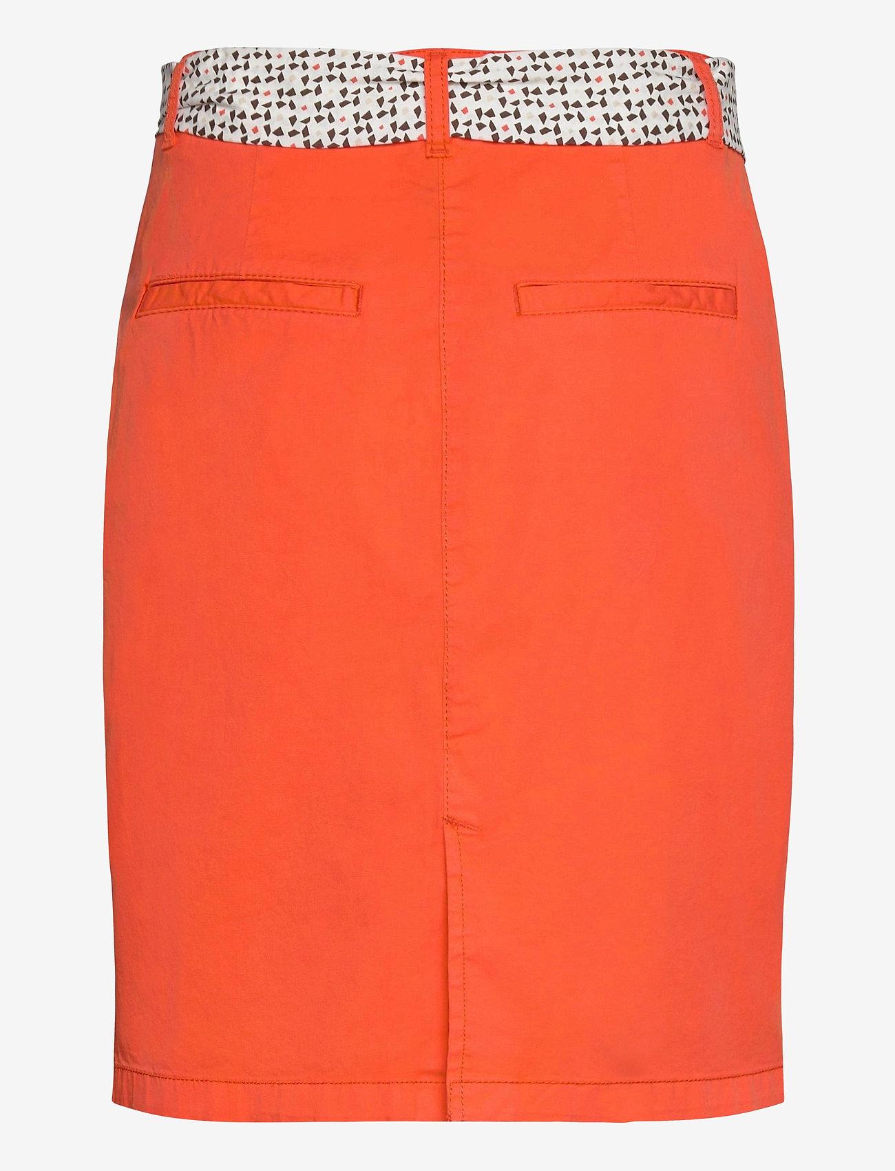 Tom Tailor - skirt solid - pennkjolar - strong flame orange - 1