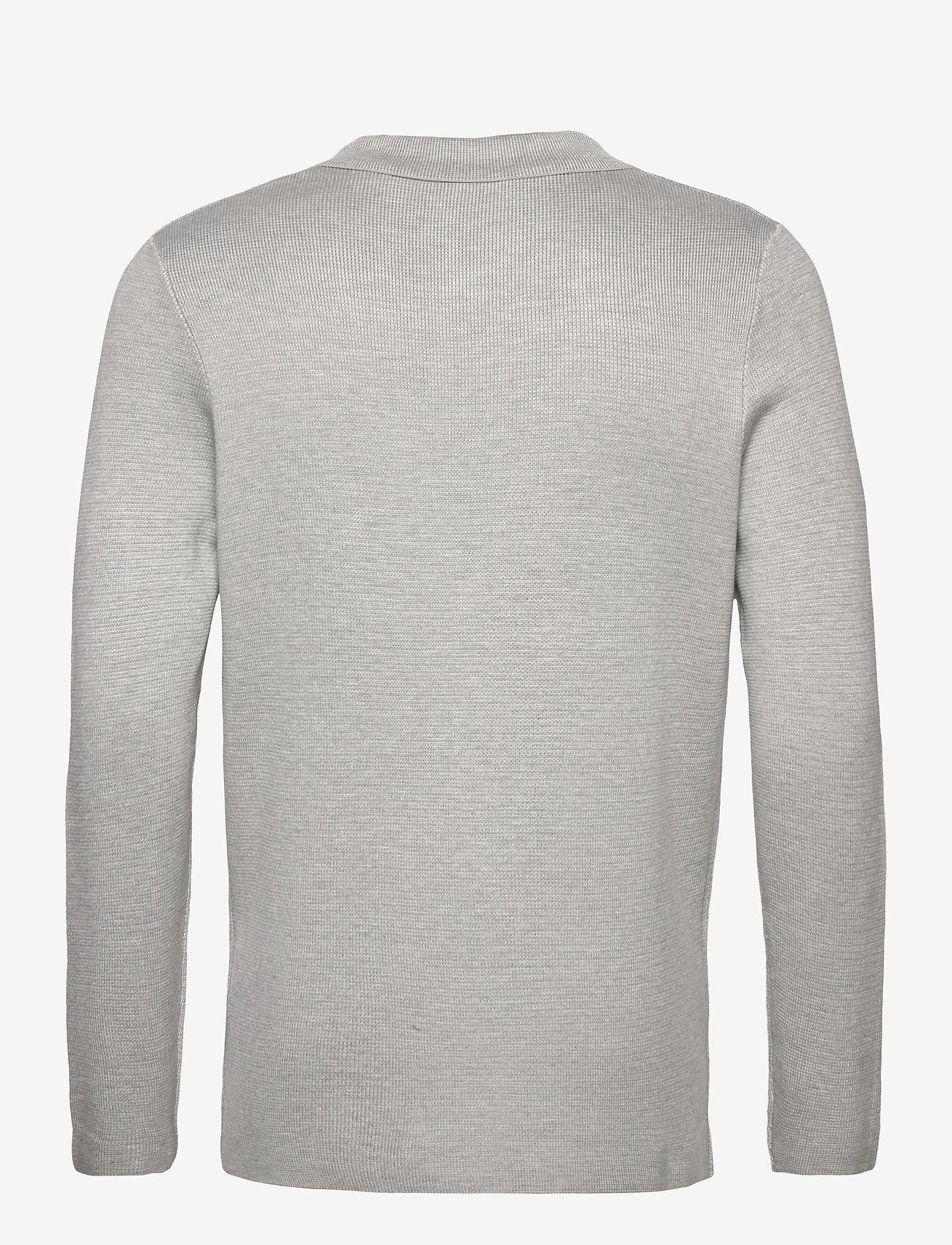 Tom Tailor knitted sakk - Strikkevarer LIGHT STONE GREY MELANGE - Menn Klær