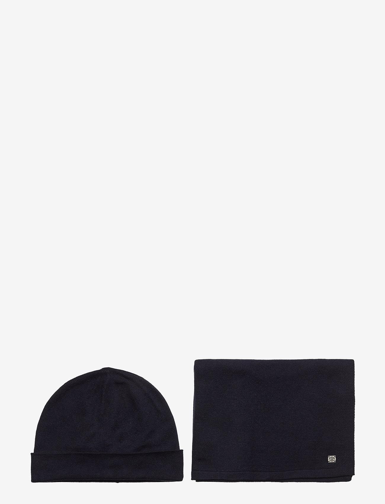 Tom Tailor - cosy christm - bonnet - knitted navy melange - 0
