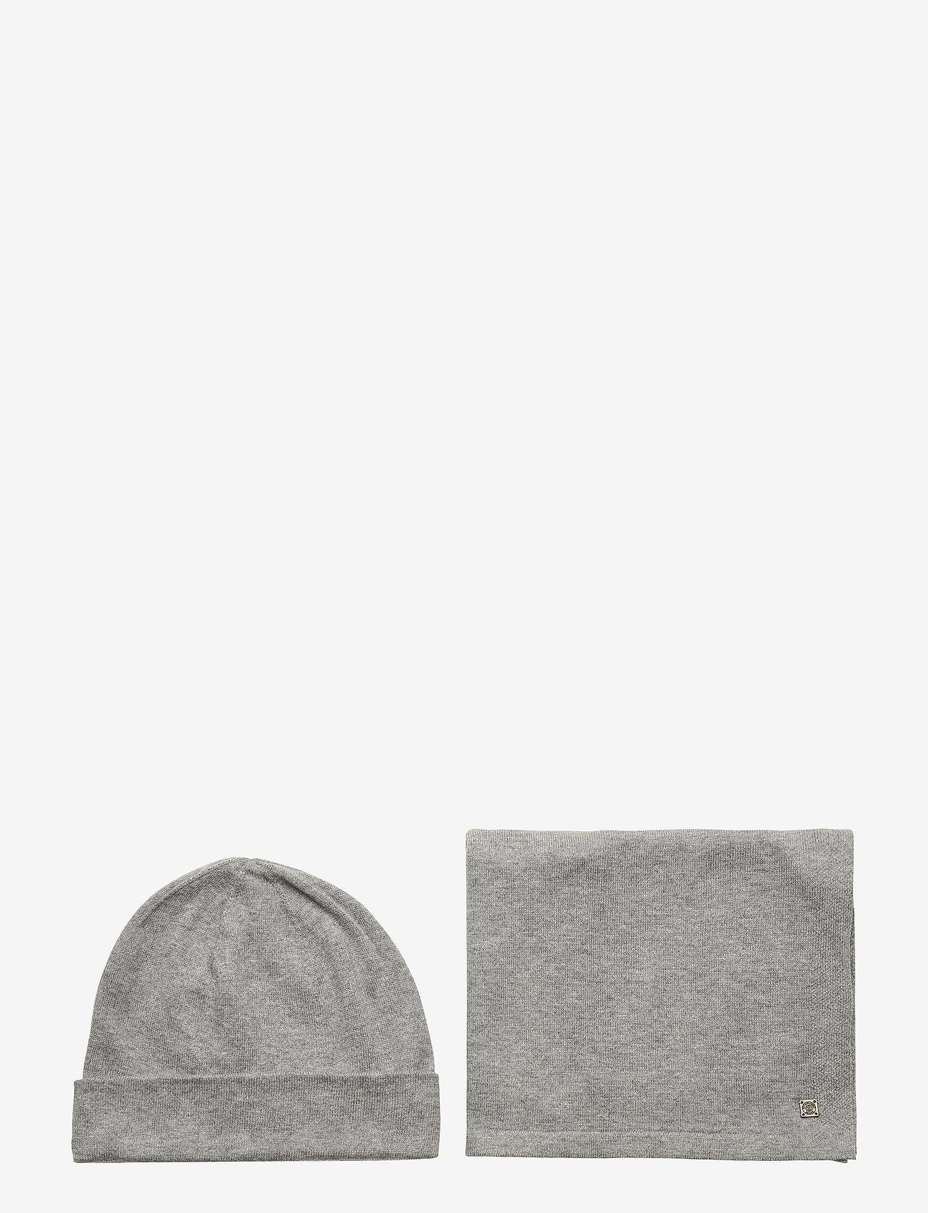 Tom Tailor - cosy christm - bonnet - light soft grey melange - 0