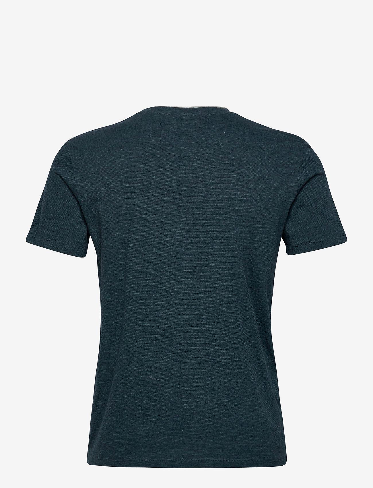 Tom Tailor fineliner t- - T-skjorter DARK GREEN THIN STRIPE - Menn Klær