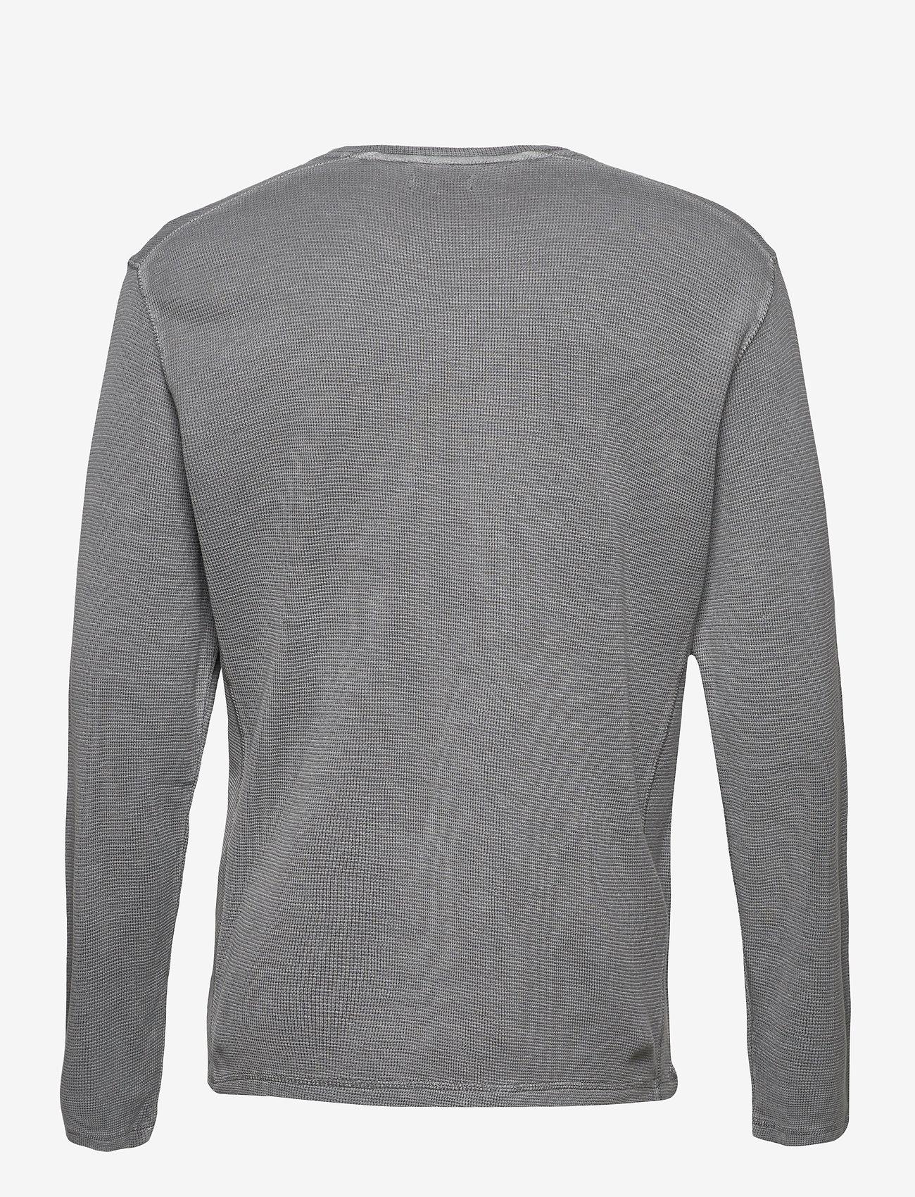Tom Tailor waffle jerse - T-skjorter MIDDLE GREY MELANGE - Menn Klær
