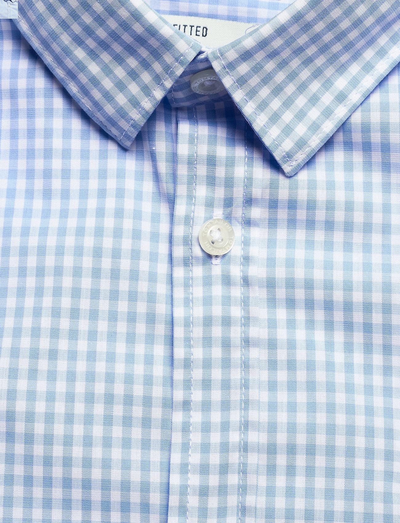Tom Tailor fitted easyc - Skjorter LIGHT BLUE MINI VICHY CHECK - Menn Klær