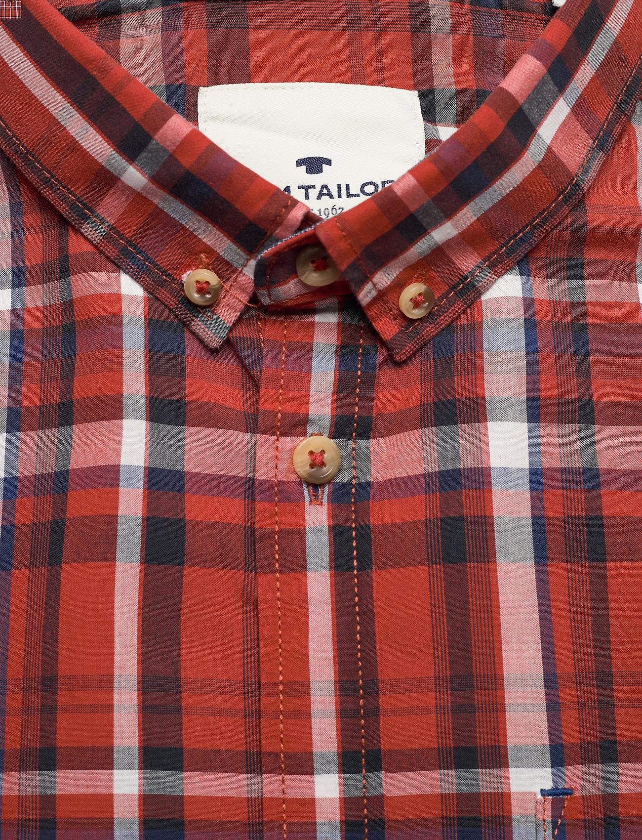 Tom Tailor regular colo - Skjorter ORANGE BASE MULTICOLOUR CHECK - Menn Klær