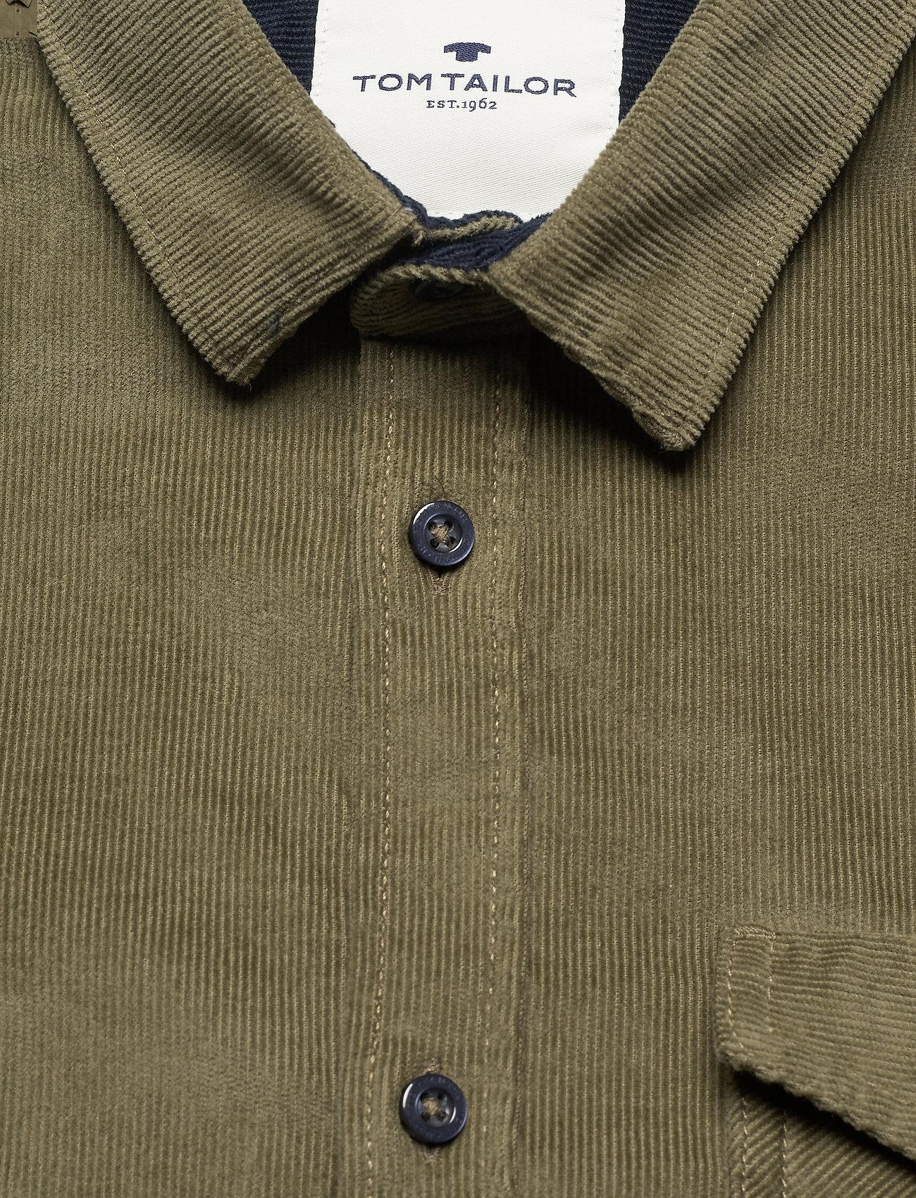 Tom Tailor regular casu - Skjorter OLIVE NIGHT GREEN - Menn Klær