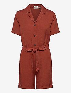 overall util - jumpsuits - goji orange