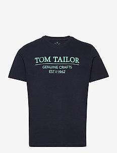 t-shirt with - korte mouwen - dark blue