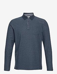 polo with st - lange mouwen - dark blue