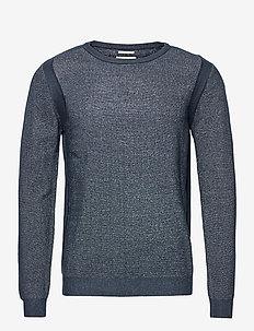 structured s - basic knitwear - dark blue