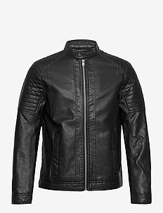 faux leather - leather jackets - black