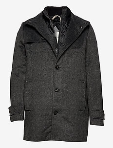 wool coat NO - villakangastakit - dark grey mini structure