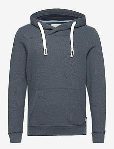 cutline hood - basic sweatshirts - sky captain blue white melange
