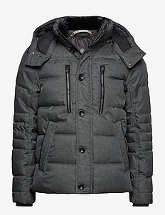 puffer jacke - padded jackets - mid grey structure