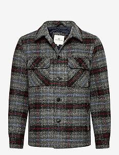 overshirt ch - tops - blue grey check