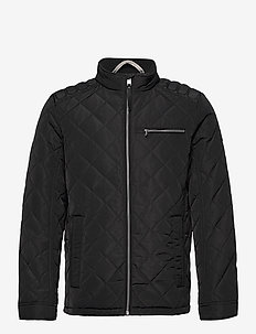 biker jacket - quilted jackets - black