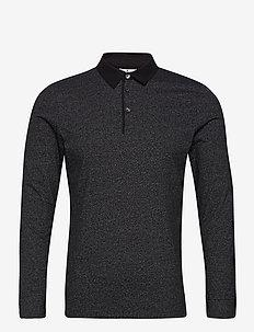 smart polo w - long-sleeved polos - black