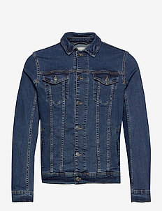 trucker deni - denim jackets - mid stone wash denim