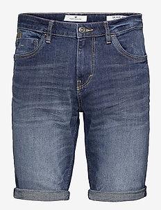 Tom Tailor J - denim shorts - dark stone wash denim