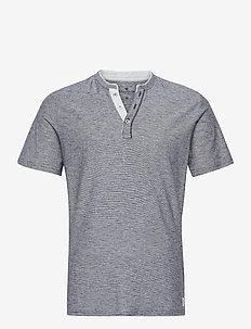 fine striped - basic t-shirts - dark blue stripe
