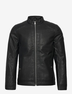 fake leather - leren jassen - black